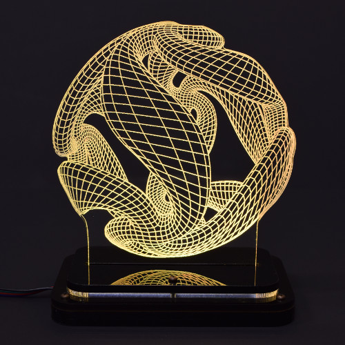 3D illusion light sculpture-crystal ball