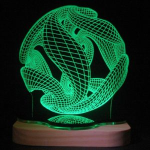 3D illusion light sculpture - crystal ball