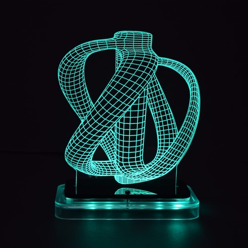 3D illusion light sculpture - Jug
