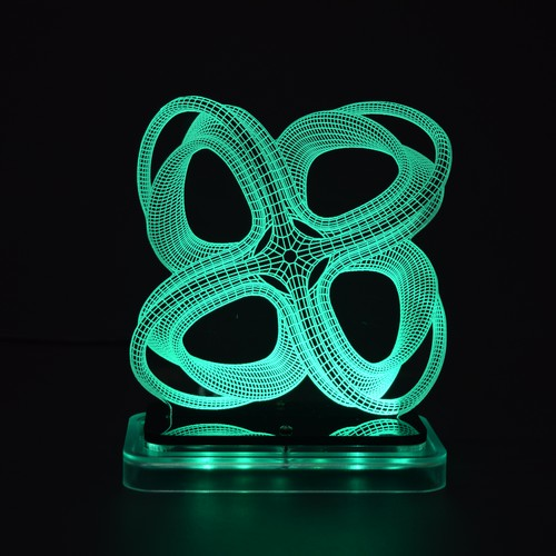 3D illusion light sculpture - Roller Coaster