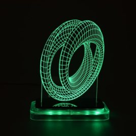 3D illusion light sculpture-Mobius