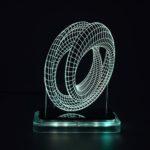 3D illusion light sculpture-Mobius