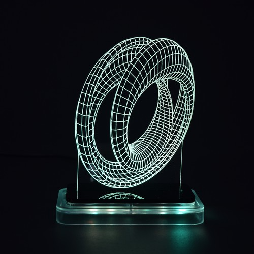 3D illusion light sculpture - Mobius
