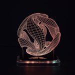 3D illusion light sculpture-Crystal Ball