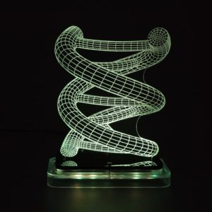 3D illusion light sculpture-DNA