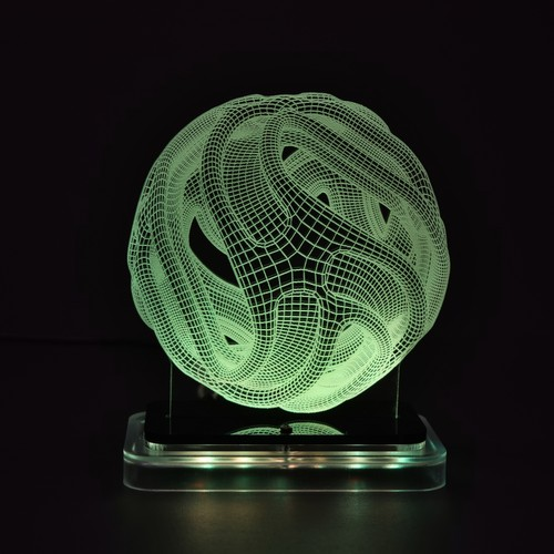 3D illusion light sculpture - Ball