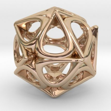 rain drops-pendant necklace-rose gold